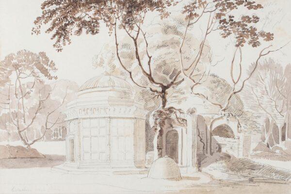 DANIELL William R.A. (1769-1837) - 'Golachine White House', 'Near Jamma Musjid, Raj Mehal' (sic).