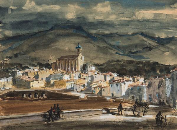 DARWIN Sir Robin R.A. R.S.A. N.E.A.C. (1910-1974) - 'Santa Magdalena da Pulpis' near Valencia.