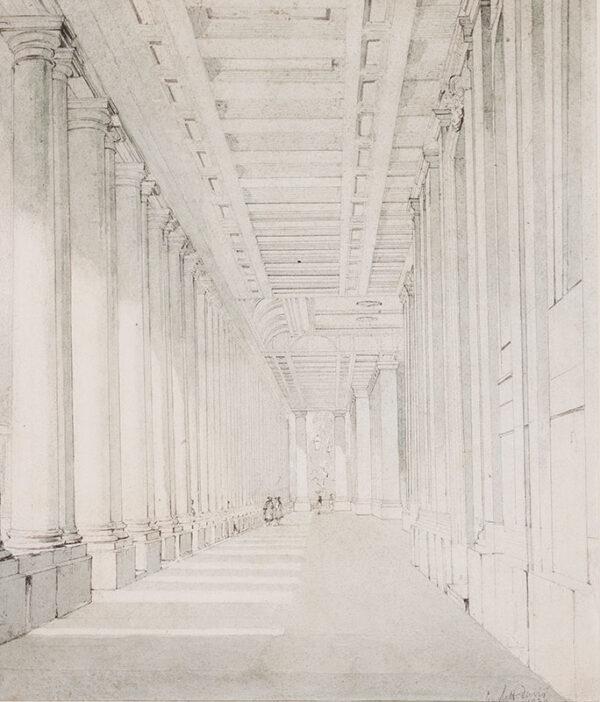 DAVIS John Scarlett (1804-1845) - Greenwich: Naval College Arcade.