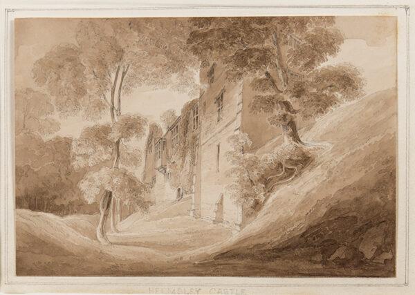 DAVIS John Scarlett (1804-1844) - 'Helmsley Castle', Yorkshire.