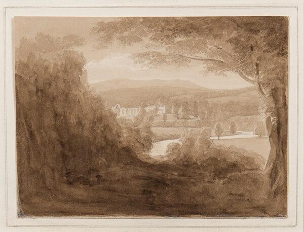 DAVIS John Scarlett (1804-1844) - 'Bolton Abbey', Yorkshire.
