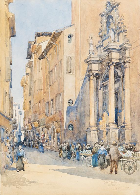 DAWBER Sir Edward Guy R.A. (1861-1938) - 'Sant'Agata, Brescia'.