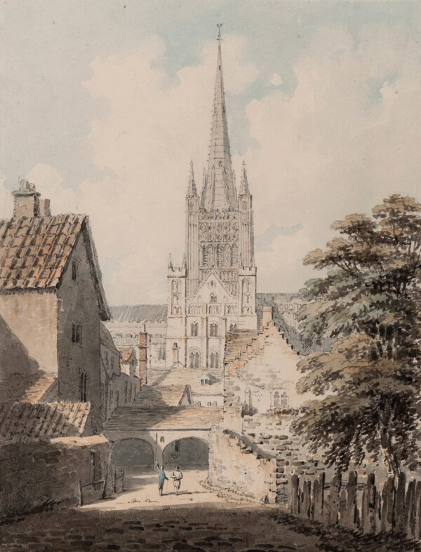 DAYES Edward (1763-1804) - Norwich Cathedral, from the South.