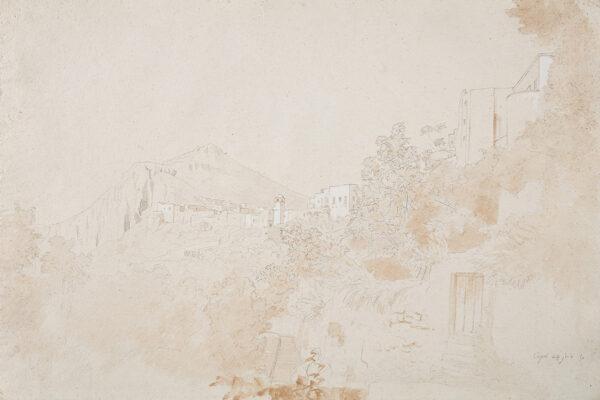 DE CURZON Alfred (1820-1895) - 'Capri'.