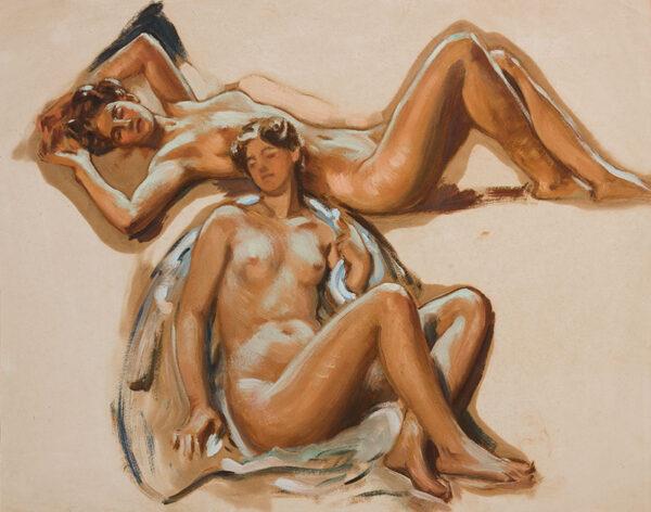 DE GLEHN Wilfrid R.A. (1870-1951) - Studies from the Nude.