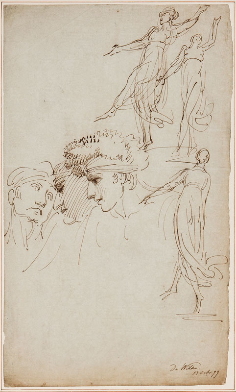 DE WILDE Samuel (1751-1832) - Theatre figure studies.