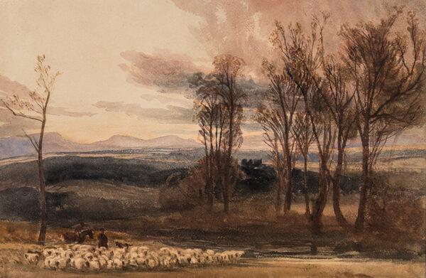 DE WINT Peter O.W.S. (1784-1849) - Winter's dusk.