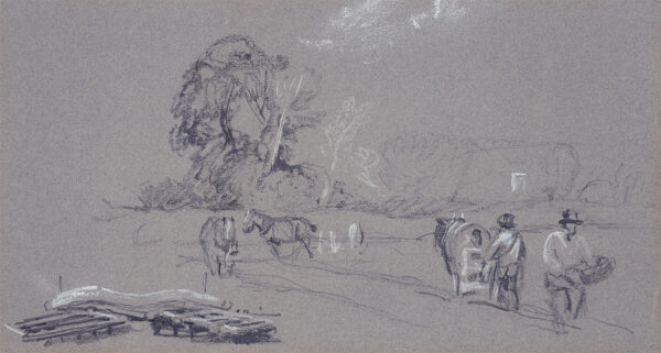 DE WINT Peter O.W.S. (1784-1849) - Ploughing and harrowing.