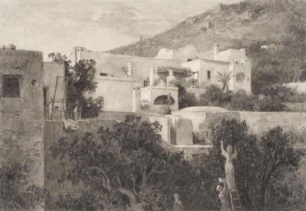 DE CURZON Alfred (1820-1895) - 'Amalfi'.