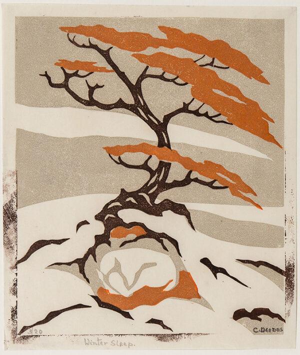 DEEDES C. (fl.1930s) - 'Winter Sleep'.