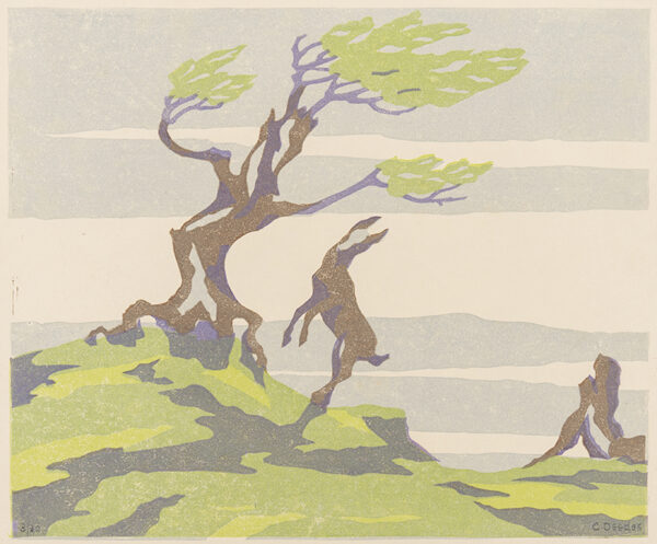 DEEDES C (fl.1930s) - Goat in Spring.