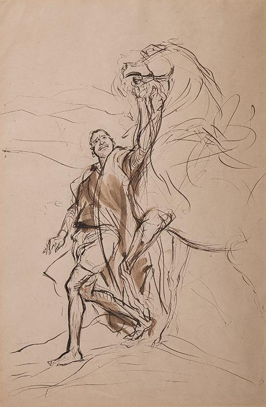 DEHODENCQ Alfred (1822-1882) - Study for 'L'Adieux de roi Boabdil a Grenade' (Oil.
