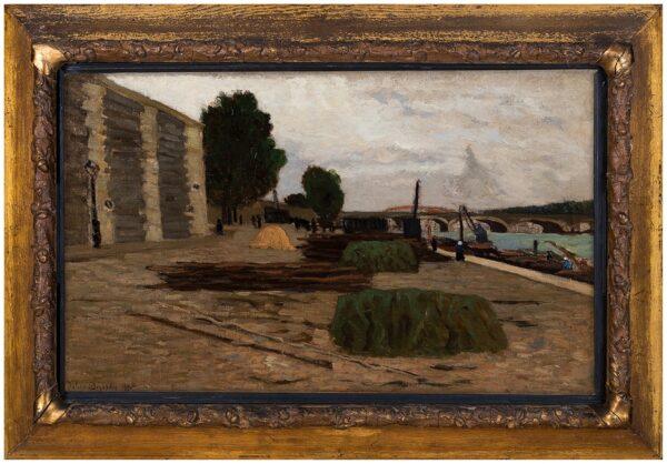 DEJARDIN Julien (1857-1907) - Quai de la Seine.