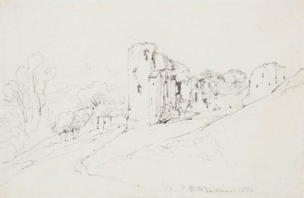 DELAMOTTE William (1775-1863) - Study of a Castle's ruins.