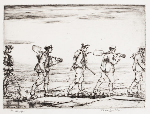 SMITH Percy Delf (1882-1948) - 'The Diggers'.