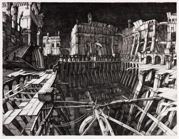 DEMAZIERES Erik (b.1948) - 'Place Deserte II' (F.