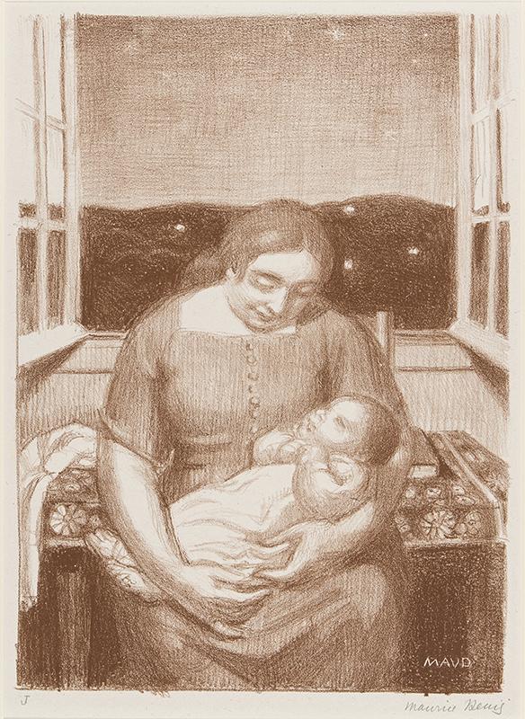 DENIS Maurice (1870-1943) - 'Maternite a la fenetre'.