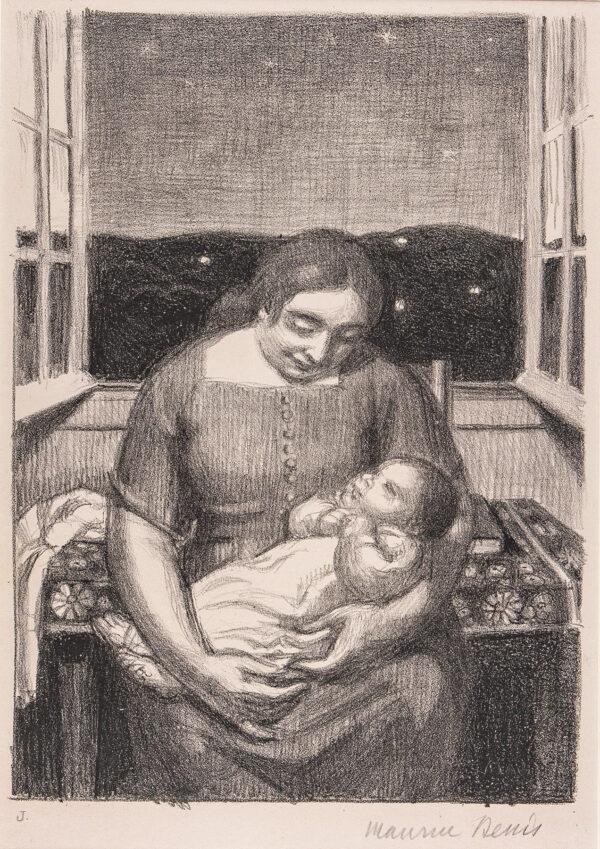 DENIS Maurice (1870-1943) - 'Maternite, a la fenetre'.