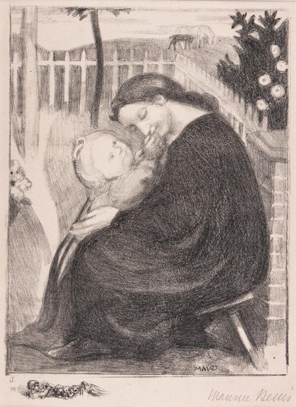 DENIS Maurice (1870-1943) - 'Maternite au jardin'.