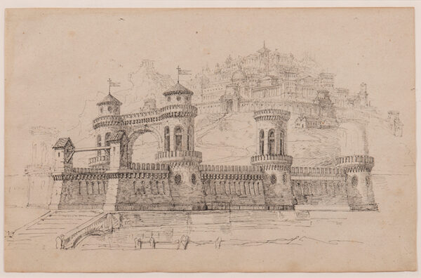 DES VIGNES Peter Hubert (1804-1883) - Architectural elevation.
