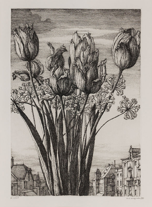 DESMAZIERES Erik (b.1948) - 'Tulipes'.