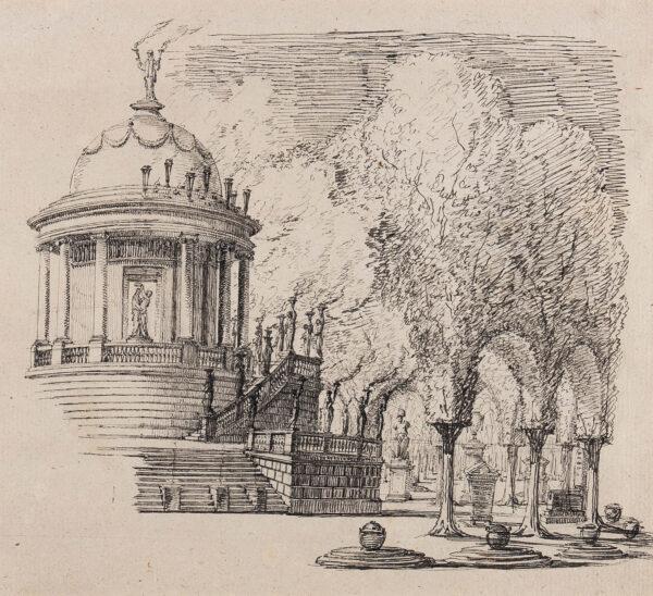 DESVIGNES Peter Hubert (1804-1883) - Capriccio.
