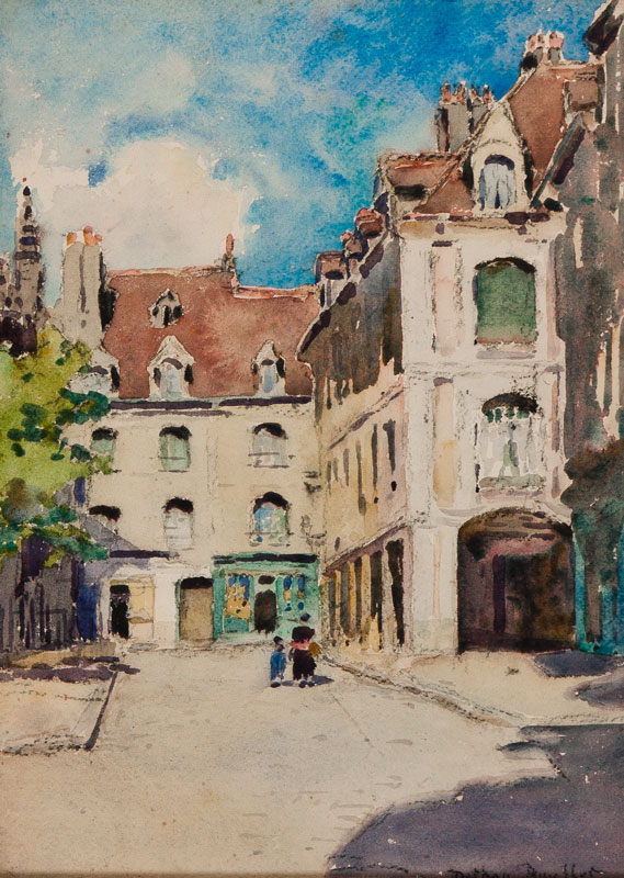 DETHAN-ROULLET Marie-Therese (1870-1945) - 'La rue St Catherine, Dieppe'.