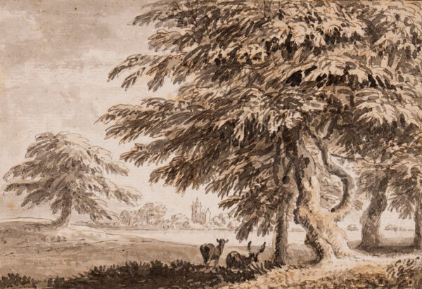 DEVIS Anthony (1729-1816) - Deer taking the shade.