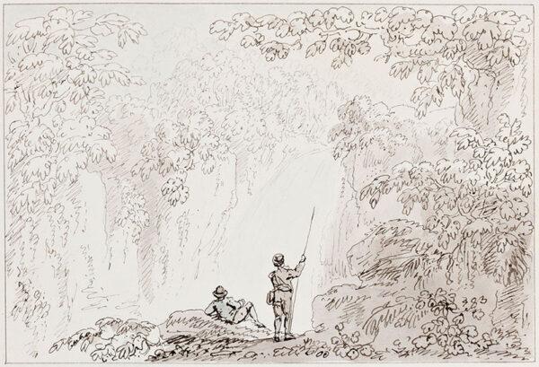 DEVIS Anthony (1729-1816) - Picturesque cascade.