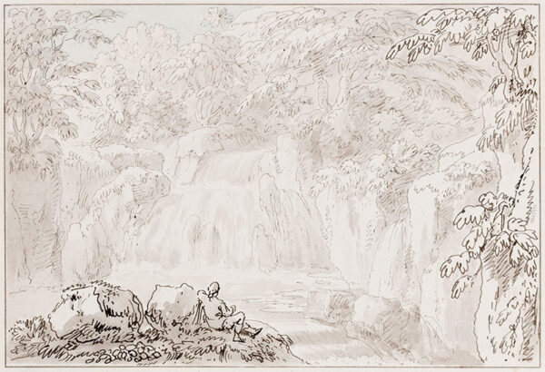 DEVIS Anthony (1729-1816) - Picturesque waterfall.