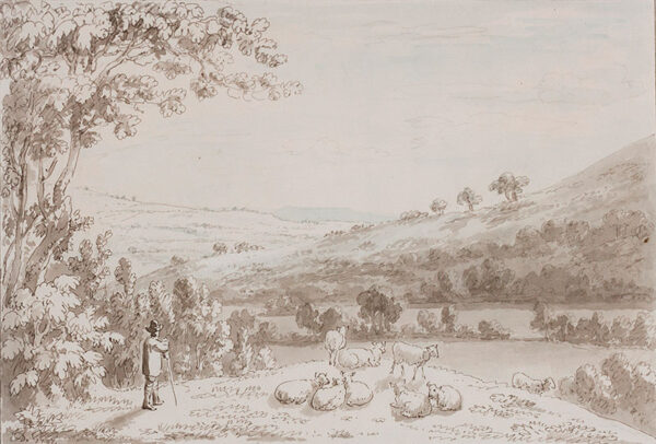 DEVIS Anthony (1729-1816) - A Shepherd and his flock.