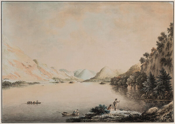 DEVIS Anthony (1729-1816) - The Lake District: an artist coming ashore.