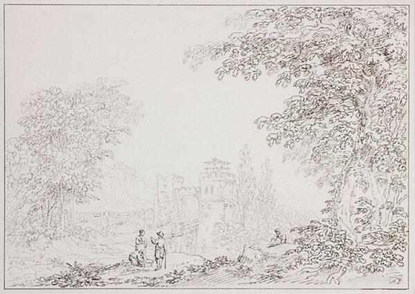 DEVIS Anthony (1729-1816) - Landscape and bridge.