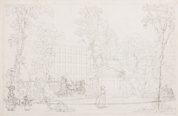 DEVIS Anthony (1729-1816) - Soho Square and the Cibber statue of Charles II.