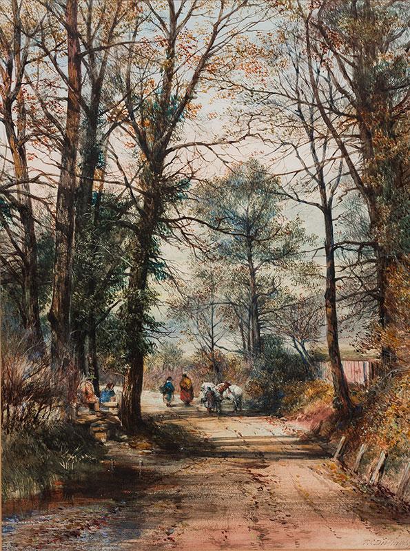 DIBDIN Thomas Colman (1810-1893) - A country lane.