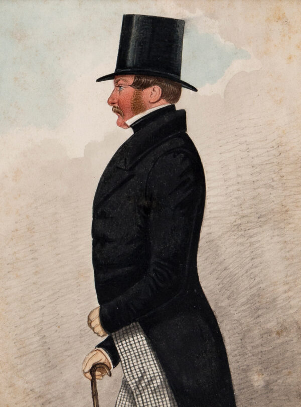DIGHTON Richard (1795-1880) - 'Colonel Lowther' Ink and watercolour.