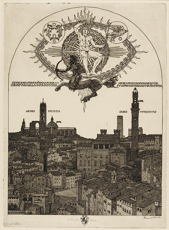 DISERTORI Benvenuto (1887-1969) - 'La Pianeta Giove'.
