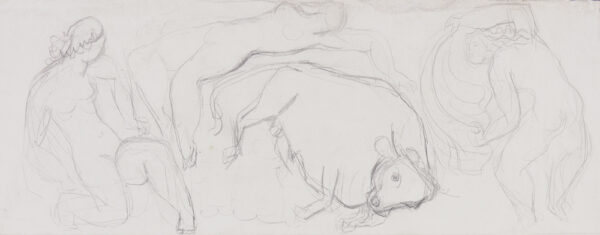 DOBSON Frank R.A. (1886-1963) - Europa and the Bull.