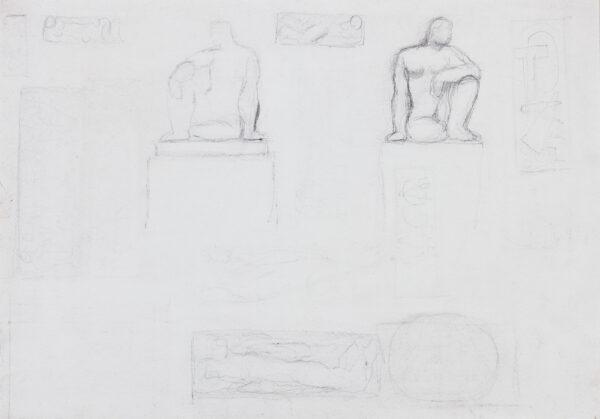 DOBSON Frank R.A. (1886-1963) - Studies for sculpture.