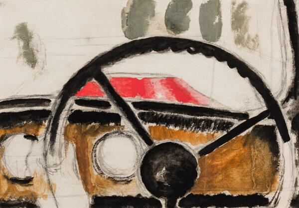 DOBSON Frank R.A. (1888-1963) - The steering wheel.