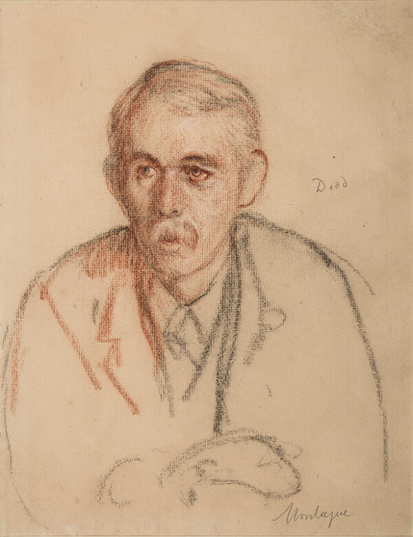 DODD Francis R.A. (1874-1949) - 'Montague': Charles Edward Montague (1867-1928) Journalist, Critic and WWI figure.