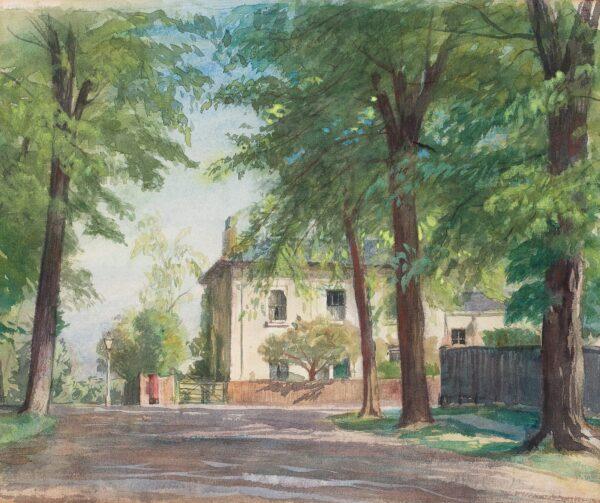 DODD Francis R.A. (1874-1949) - House beneath trees, Greenwich.
