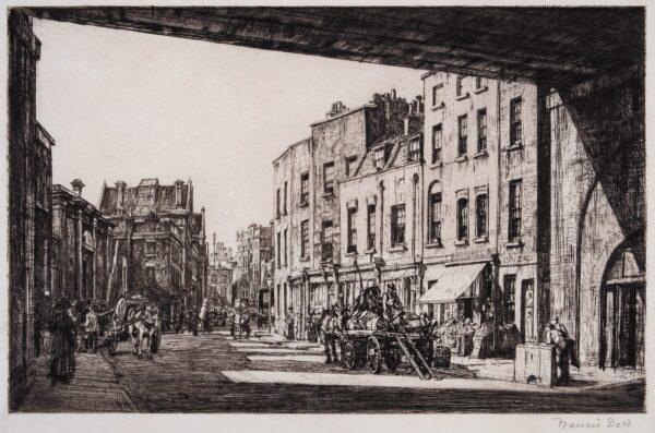 DODD Francis R.A. (1874-1949) - 'Belvedere Road, Lambeth' (S.