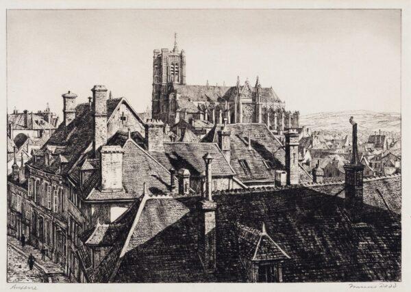 DODD Francis R.A. (1874-1949) - 'Auxerre'.