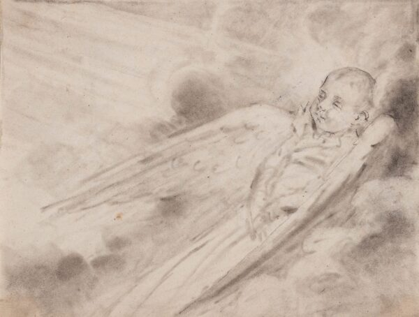 DOWNMAN George A.R.A. (1750-1824) - A Baby going to Heaven.