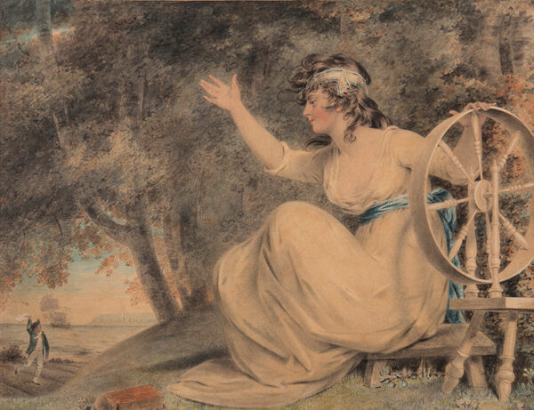 DOWNMAN John A.R.A. (1750-1824) - Fortune/Penelope Greeting a returning Sailor.