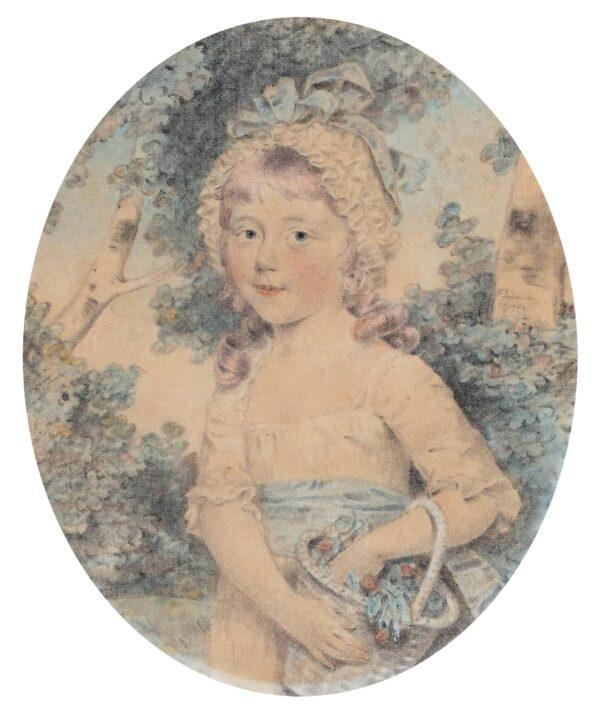 DOWNMAN John A.R.A. (1750-1824) - Portrait of a child.