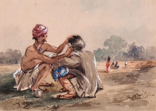 D'OYLEY Sir Charles Walters (1822-1900) - An Indian barber.