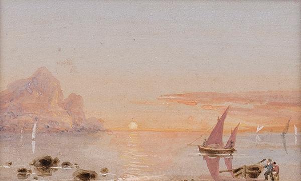 D'OYLY Sir Charles (1781-1845) - Italian Sunset.
