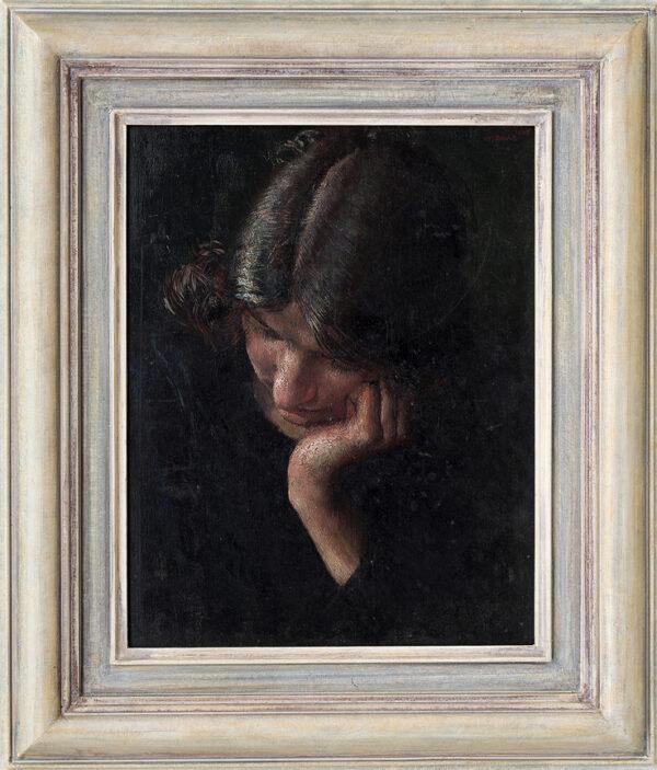 DRING William R.A. R.W.S. (1904-1990) - Head of a girl: 'Doreen'.